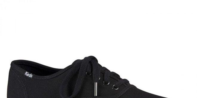 b7414d342d2 Pánské černé plátěné tenisky Keds