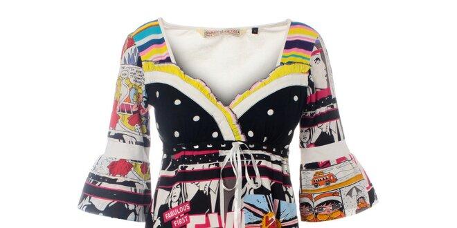 0eaf6042a82d Dámské barevné šaty Savage Culture s komiksovým potiskem