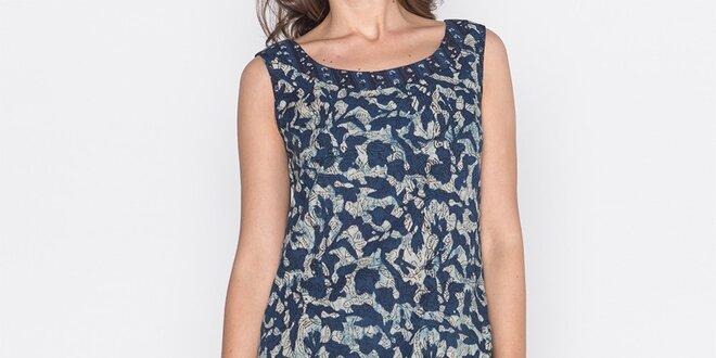 Dámské tmavě modré šaty s potiskem Mahal