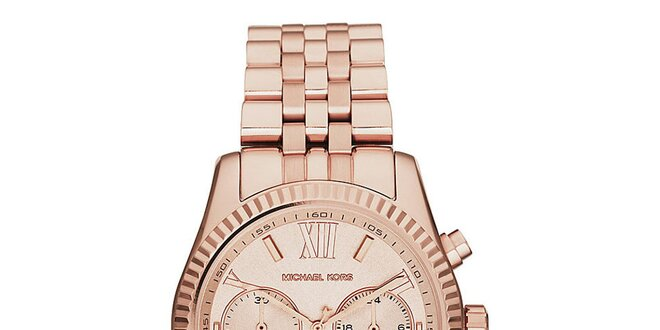 Dámské ocelové hodinky v barvě růžového zlata Michael Kors