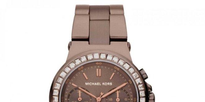 Dámské hnědé hodinky s chronografem Michael Kors
