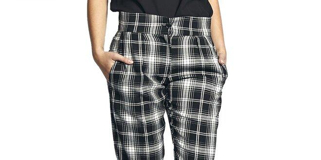 Dámské černo-bíle kostkované kalhoty Liquorish  df1827fc43