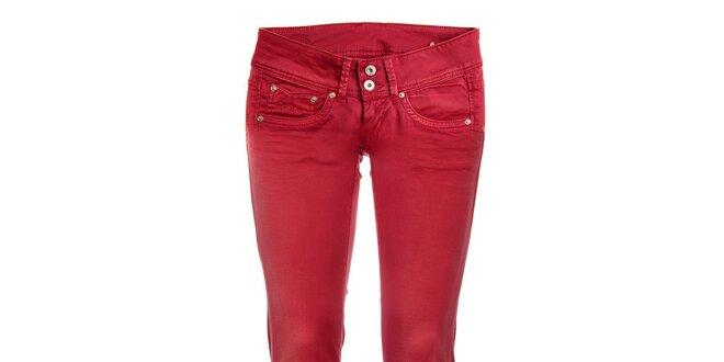 Dámské červené skinny džíny Pepe Jeans  dfa7957e3e