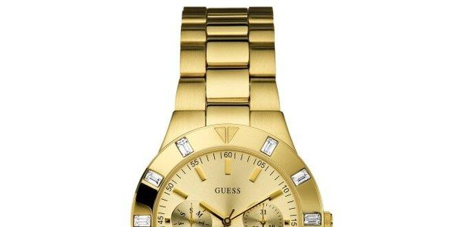 Dámské zlatě tónované hodinky Guess