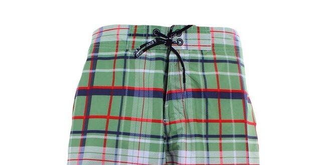 bd402b4d12c Pánské zeleně kostkované plavky Exe Jeans