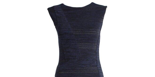 Dámské tmavě modré pouzdrové šaty JDC London