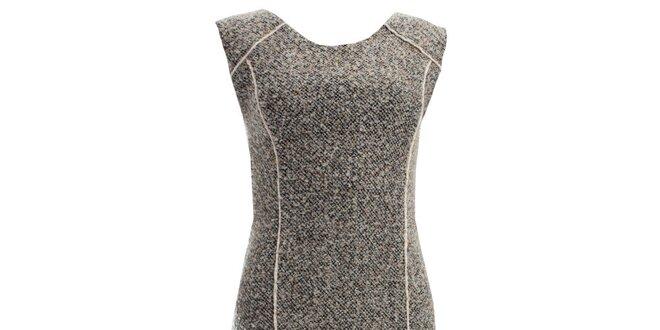 Dámské šedé šaty s kontrastními proužky JDC London