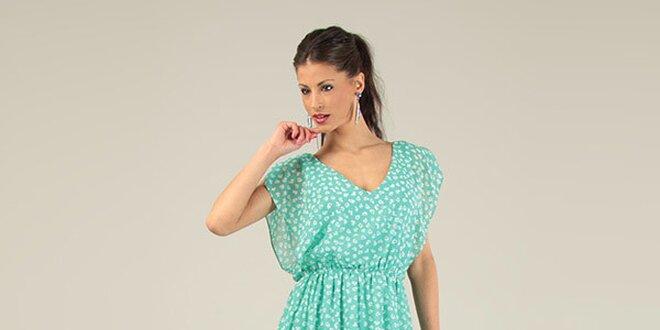 2291be57287 Dámské zelené krátké volné šaty s potiskem Lili Lovely