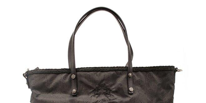 Dámská černá kabelka s ozdobným lemem La Martina