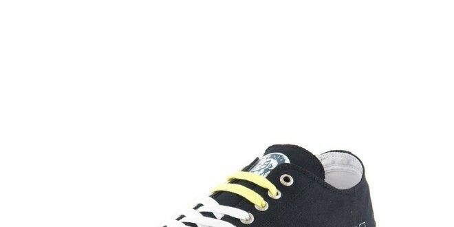 Pánské látkové černé tenisky Diesel  1dd1ecb167