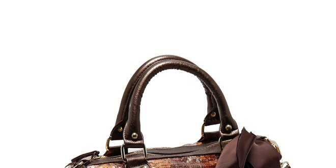 Dámská bronzovo-hnědá flitrovaná kabelka Steve Madden