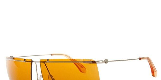 Pánské sluneční brýle s oranžovými sklíčky Calvin Klein