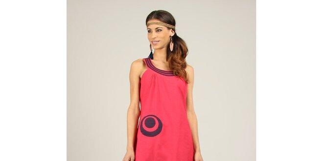 Dámské fuchsiovo-fialové šaty Ziva
