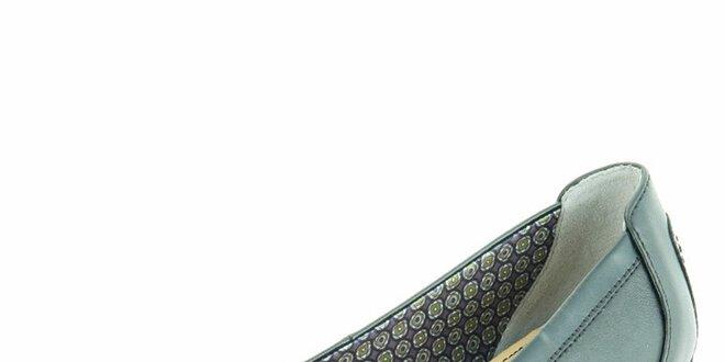 Dámské kožené baleríny s mašlí Geox