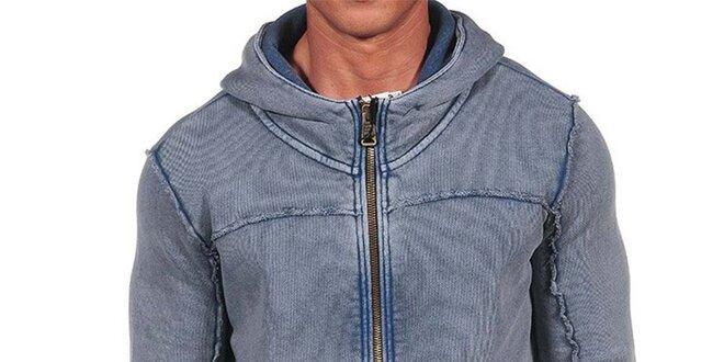 Pánská světle modrá mikina s kapucí Calvin Klein  c095ed8652