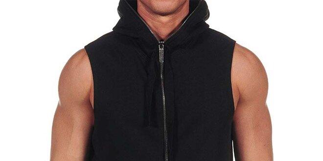 Pánská černá mikina bez rukávů Calvin Klein  627cf95dea
