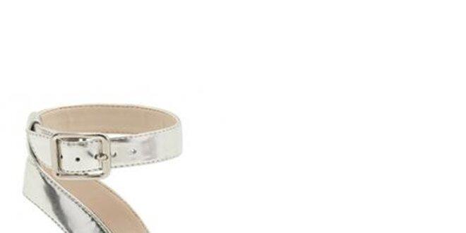 Dámské bílo-stříbrné sandálky Clarks