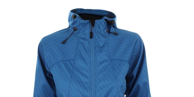 Dámská modrá softshellová bunda se vzorem Trimm