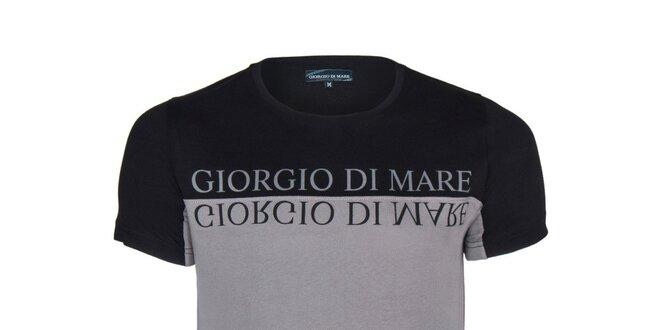 Pánské černo-šedé tričko Giorgio di Mare  15fc3a1516