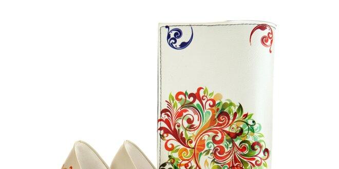 Dámské lodičky a psaníčko Elite Goby - s barevnými ornamenty