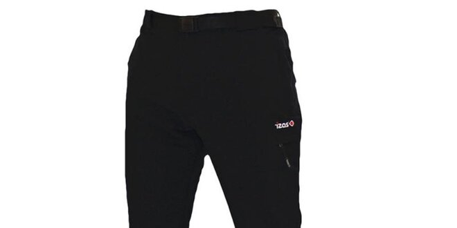Pánské černé outdoorové kalhoty s páskem Izas
