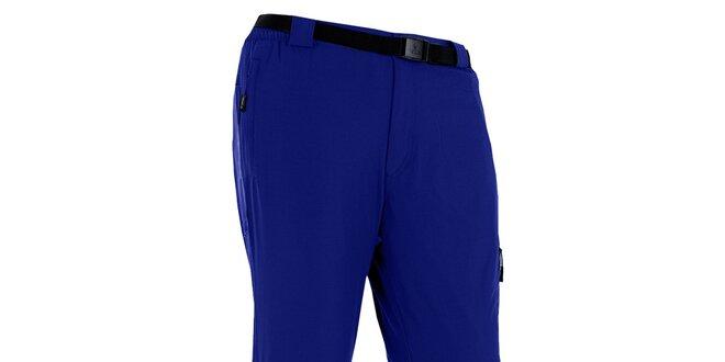 Pánské modré outdoorové kalhoty s páskem Izas