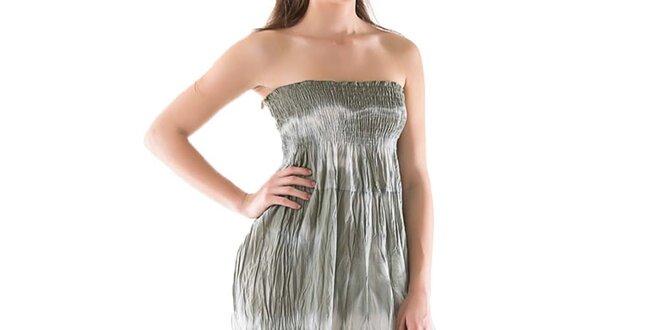 Dámské dlouhé zelené batikované šaty Keysha  01c330a222