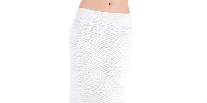 Dámská dlouhá bílá perforovaná sukně Keysha  1e97f06576