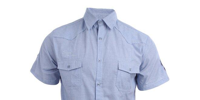 070da052708 Pánská světle modrá košile s krátkým rukávem Authority