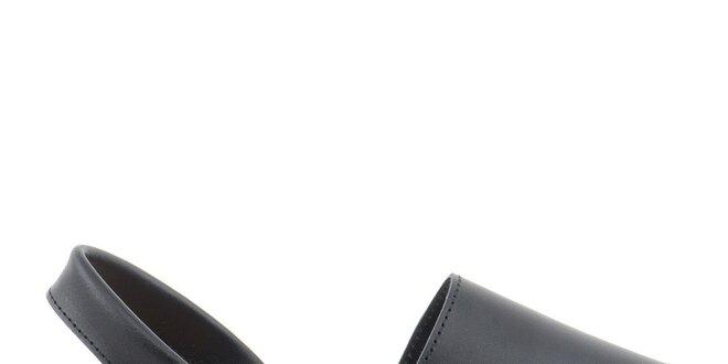 Dámské černé sandály z kůže Daneris