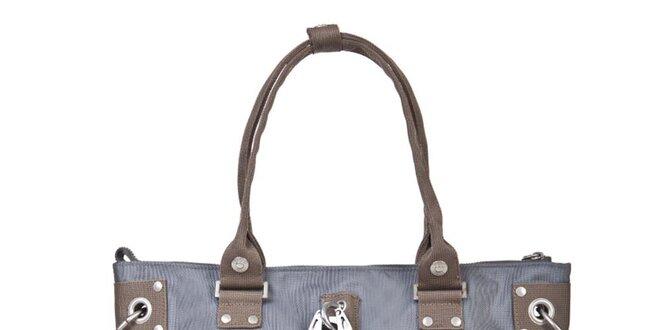 Dámská modrošedá kabelka s hnědými uchy George Gina and Lucy