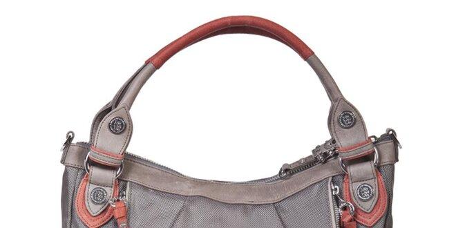 Dámská šedobéžová kabelka s oranžovými prvky George Gina and Lucy