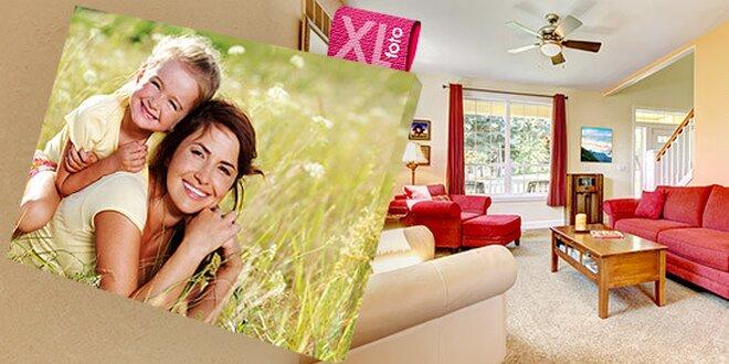 Fotografie na luxusním fotoplátně na dřevěném rámu