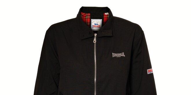 Dámská černá baseballová bunda Lonsdale s červenou podšívkou ... b0d4d9a9adb