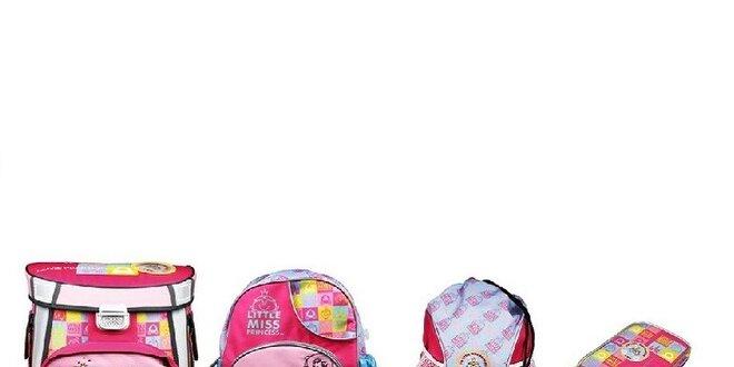 SET MISS PRINCESS 1-2 třída (Školní aktovka+Dětský batoh+Sportovní ... d4700c8ddc