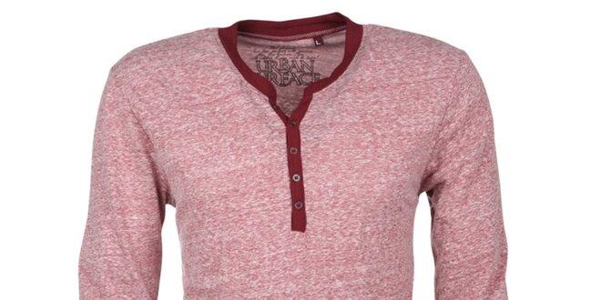 Pánské červeně melírované tričko Urban Surface