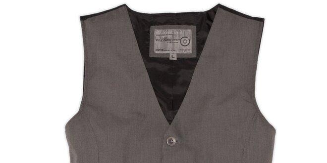 Pánská šedá vesta Sublevel