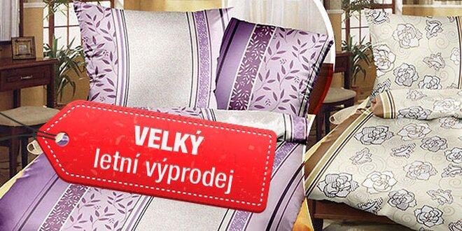 Levandulové povlečení De Luxe ze 100% bavlny