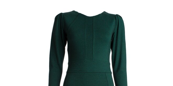 Dámské zelené šaty s dlouhými rukávy JDC London  9180765399