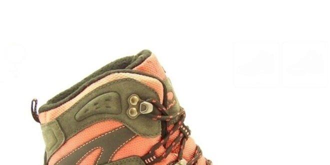 645f70ae4d Dámské oranžovo-khaki trekové boty Numero Uno