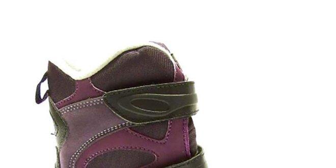 Dětské fialové zimní boty Numero Uno  90b65aaf74