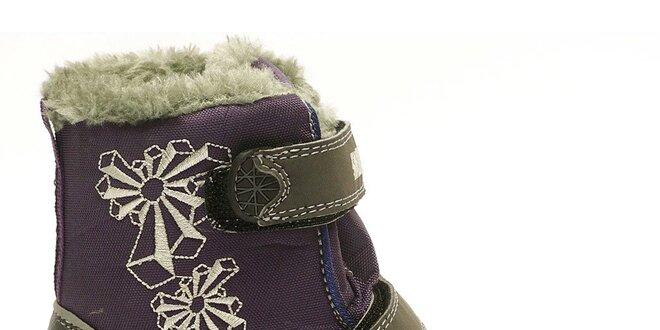 Dětské zimní fialovo-šedé boty Numero Uno  81c449946d