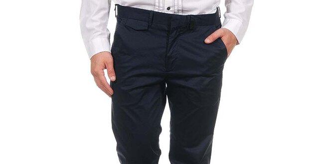 a1fe5e3f5b7 Pánské tmavě modré společenské kalhoty Calvin Klein