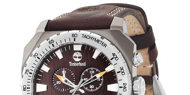 Pánské hodinky Timberland STRATHAM tmavě hnědé  b8419e3a830