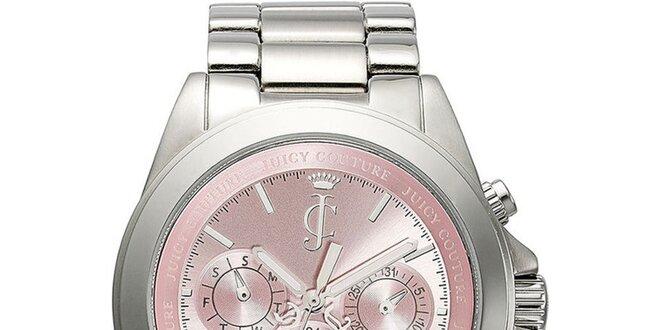 fb03f5f47 Dámské stříbrné hodinky s růžovým ciferníkem Juicy Couture | Slevomat.cz