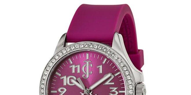 Dámské fialové hodinky s bílými kamínky Juicy Couture  4dcf38e7fb5