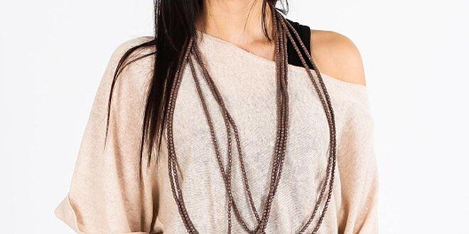 Dámský béžový lněný svetr Emma Pernelle ac3bee5d16