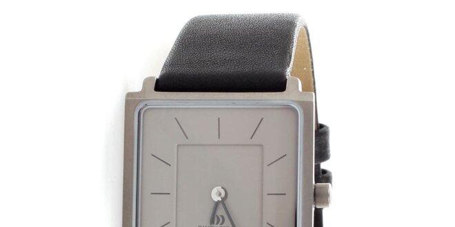 Dámské titanové hodinky Danish Design s černým koženým řemínkem ... 140de3541b