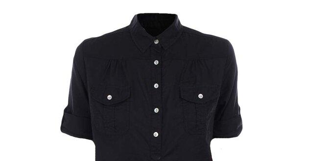 Dámská černá košile s krátkým rukávem Timeout  8e239bf867