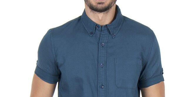 Pánská tmavě modrá košile s krátkým rukávem Giorgio di Mare ... 3469a1e1c5